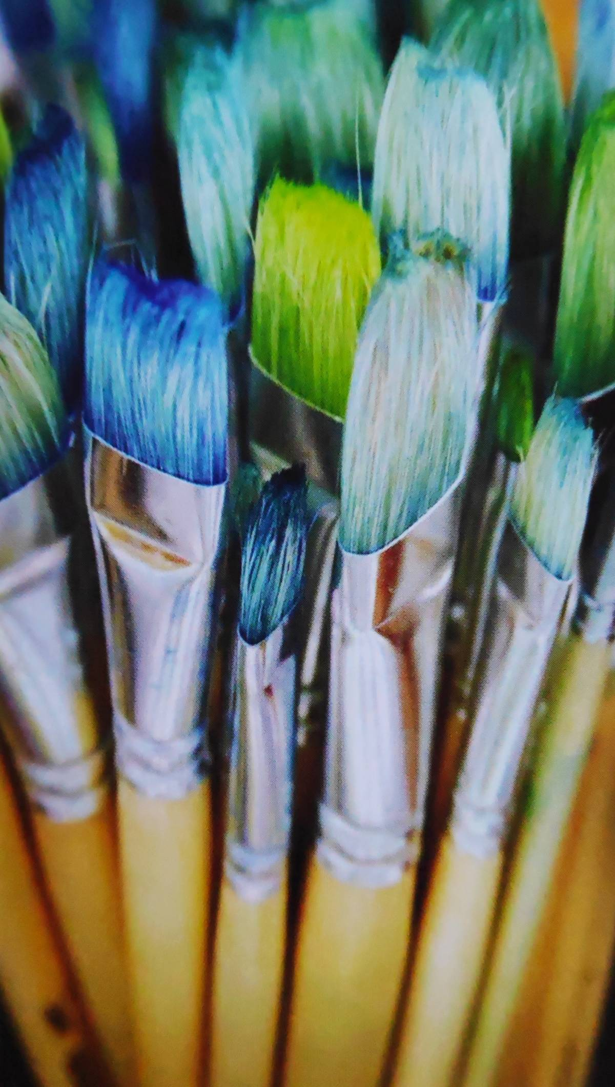 brushes for acrylic family portrait, Pinsel für die Acryl Familienportraitsn