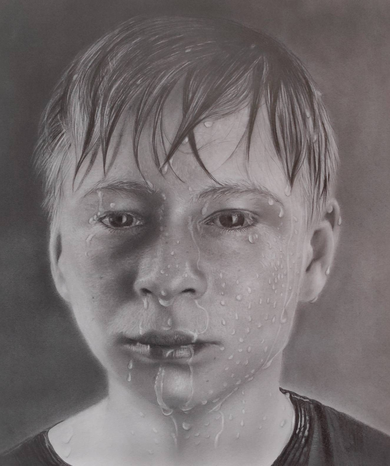 pencil portrait photorealism, Bleistift Portrait Photorealismus